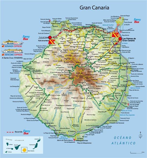 Карта острова Гран Канария