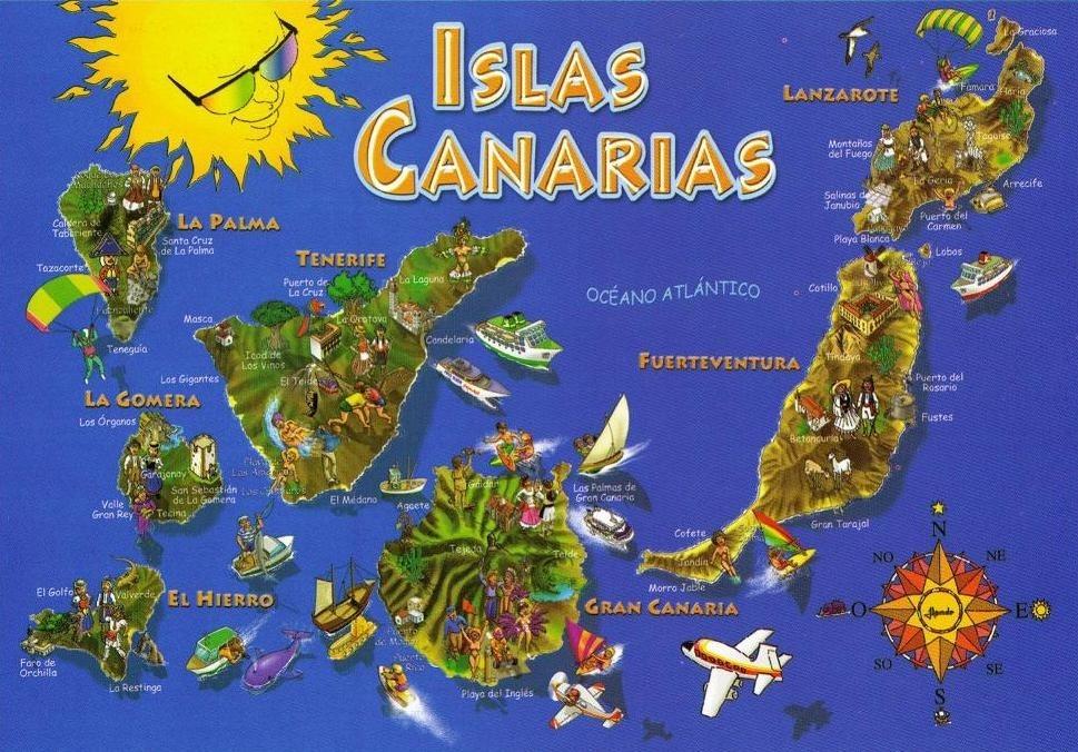 Карта развлечений Канарского архипелага