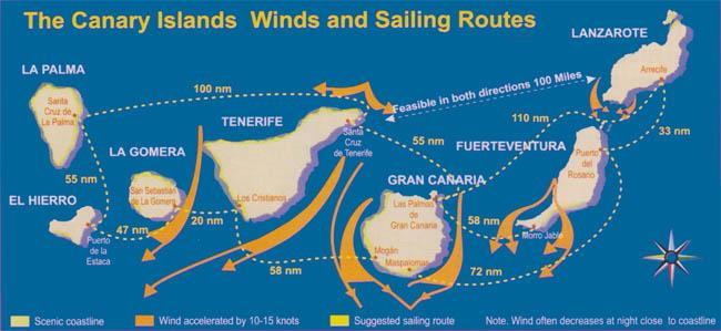 map canar pogoda